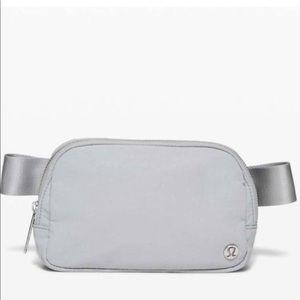 new Lululemon Everywhere Belt Bag in rare silver